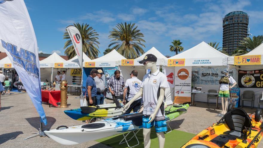 Ambiente en la exposición de la séptima edición de la Feria Internacional del Mar celebrada en Las Palmas de Gran Canaria.