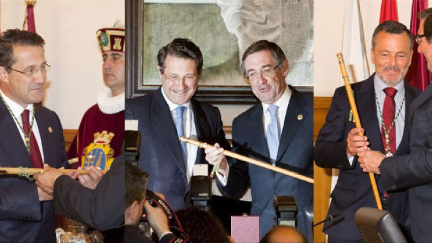 Tomas de posesión de los tres alcaldes que ha tenido Santiago en lo que va de mandato