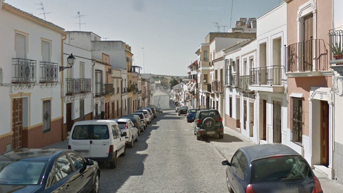Calle Altozano en Aguilar de la Frontera.