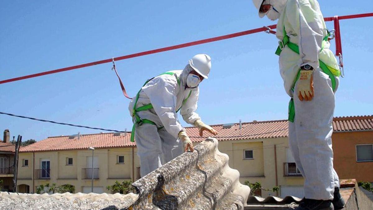 Retirada de uralita en Gran Canaria