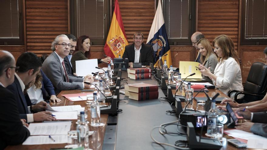 El Consejo de Gobierno de Canarias en la reunión celebrada este lunes.