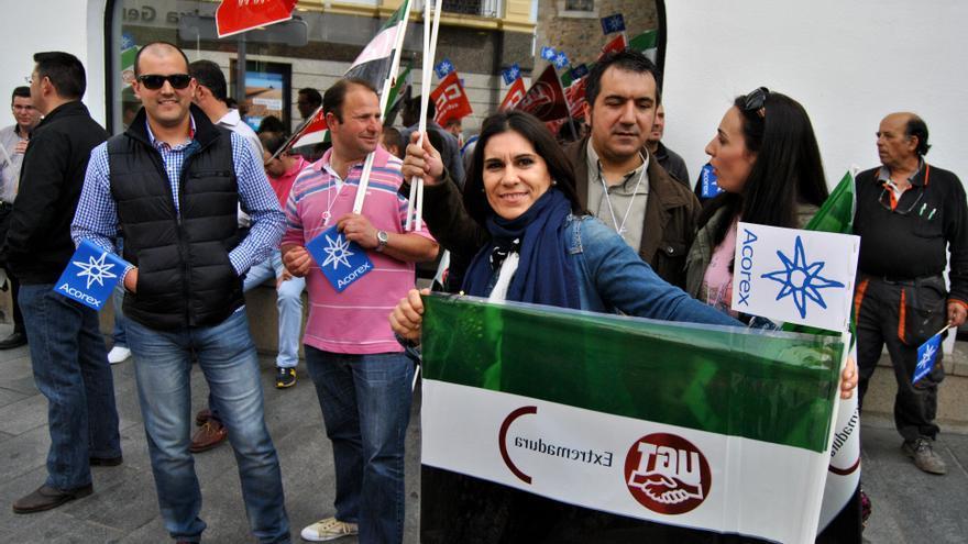 Protesta de trabajadores de Acorex