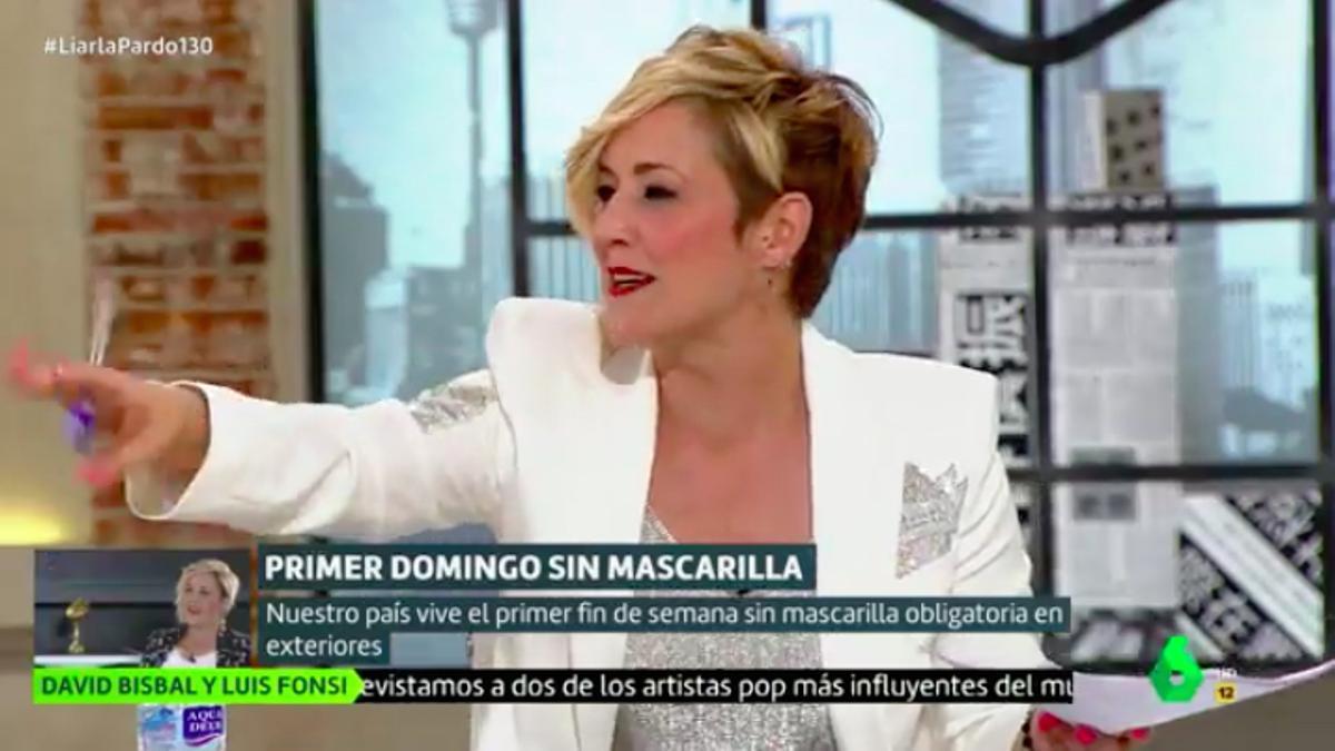 Cristina Pardo poniendo paz entre sus colaboradores