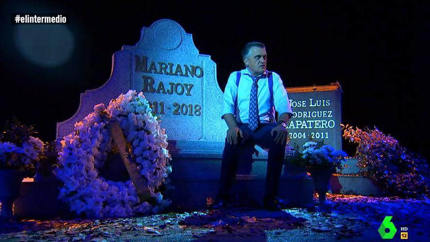 Wyoming, ante la tumba de Rajoy en El Intermedio