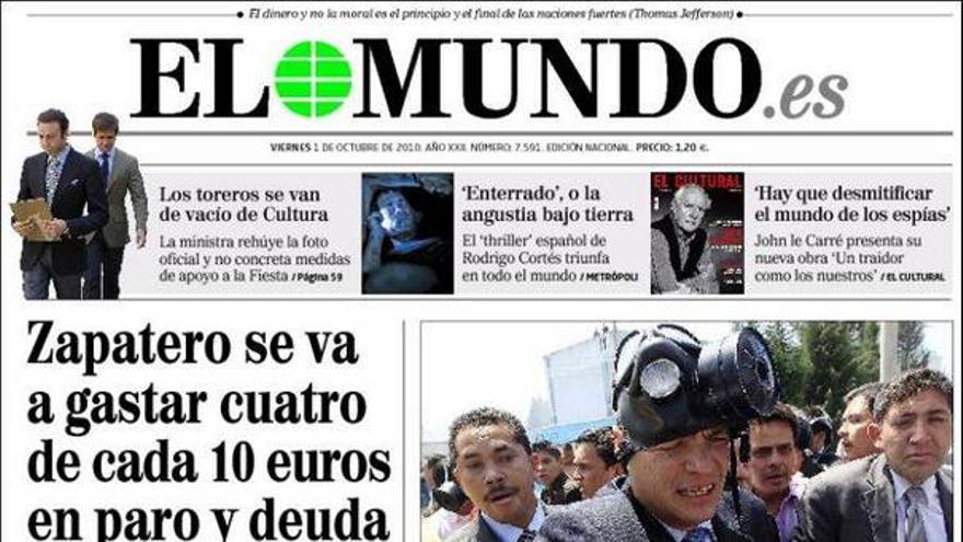 De las portadas del día (01/10/2010) #6