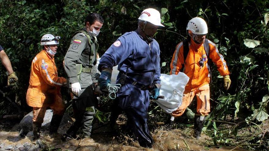 Ascienden a 33 los muertos por avalancha en noroeste de Colombia