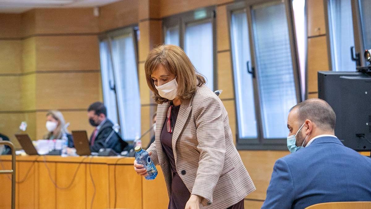Jacinta Monroy en el juicio