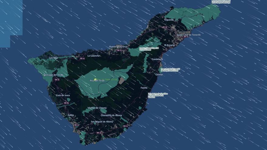 El Parque Nacional del Teide registra rachas de viento de hasta 130 kilómetros por hora