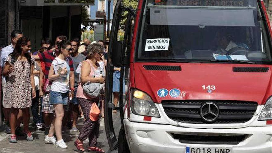 Huelga Alhambra Bus