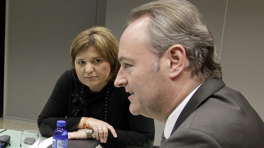 Isabel Bonig y Alberto Fabra