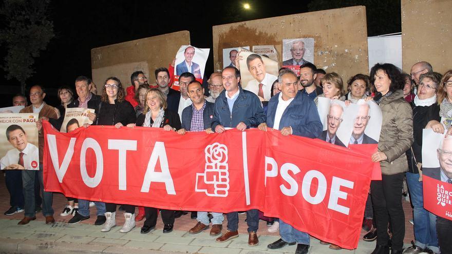 Alberto Rojo, candidato del PSOE, en el arranque de la campaña FOTO: PSOE