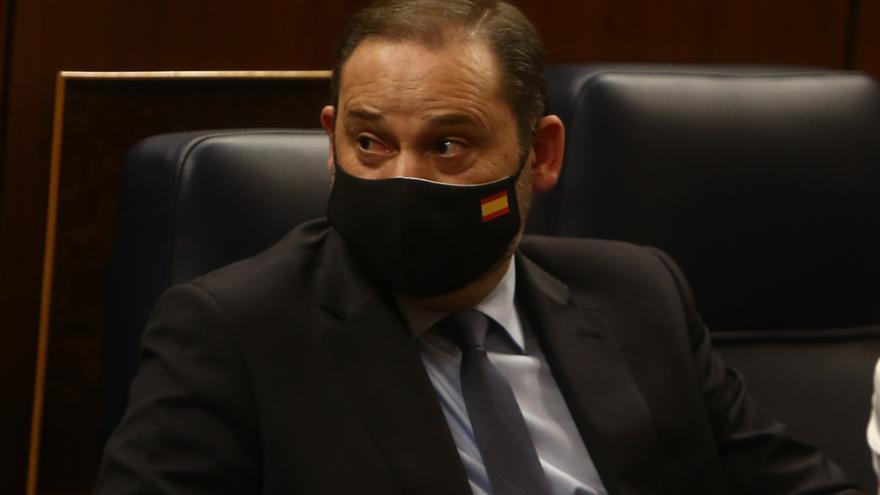 El ministro José Luis Ábalos durante un pleno en el Congreso