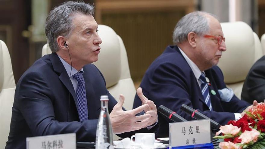 Macri pide al presidente chino profundizar en la relación bilateral con Pekín