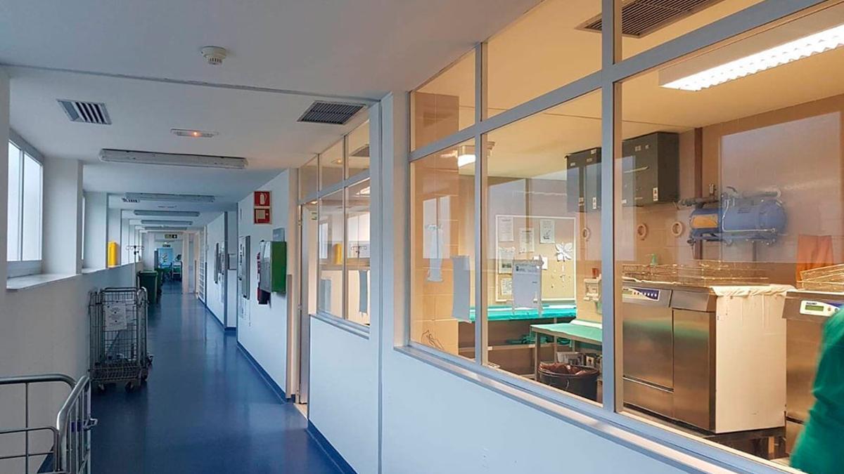 Interior del Hospital Infanta Margarita.