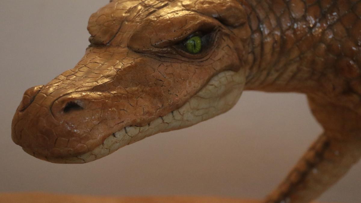 Reproducción de un cocodrilo del Cretácico Superior, hace unos 90 millones de años
