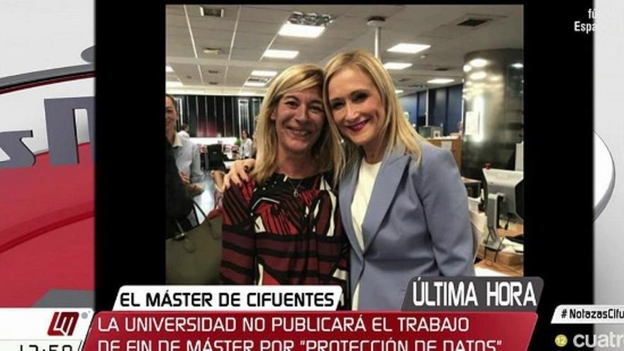 Cristina Cifuentes y Amalia Calonge