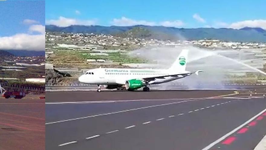 Imagenes de los aviones  que cubrirán las nuevas rutas aéreas de La Palma con Alemania y Holanda.