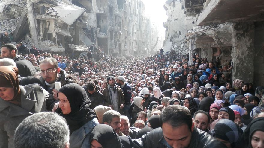 Campo de refugiados palestinos de Yarmouk en Damasco. / UNRWA