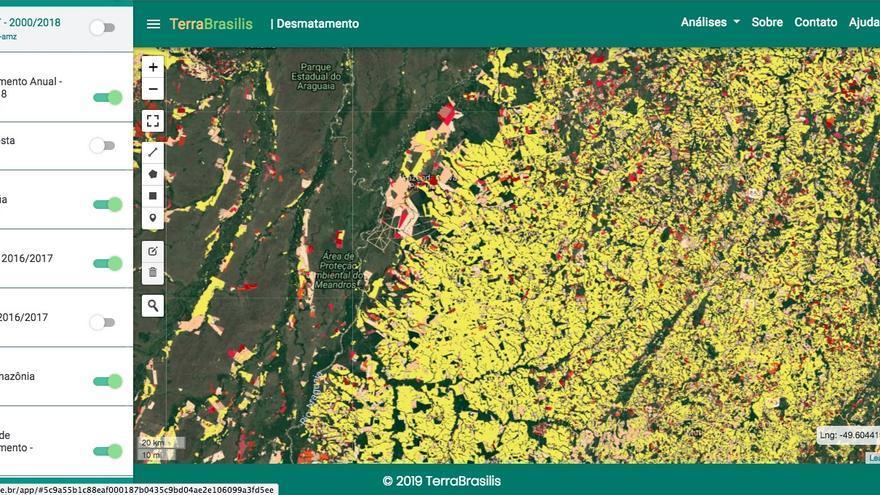 El programa Terra Brasilis, que rastrea la deforestación en tiempo actual, detectó 2.072,03 km² áreas de alerta el pasado junio.