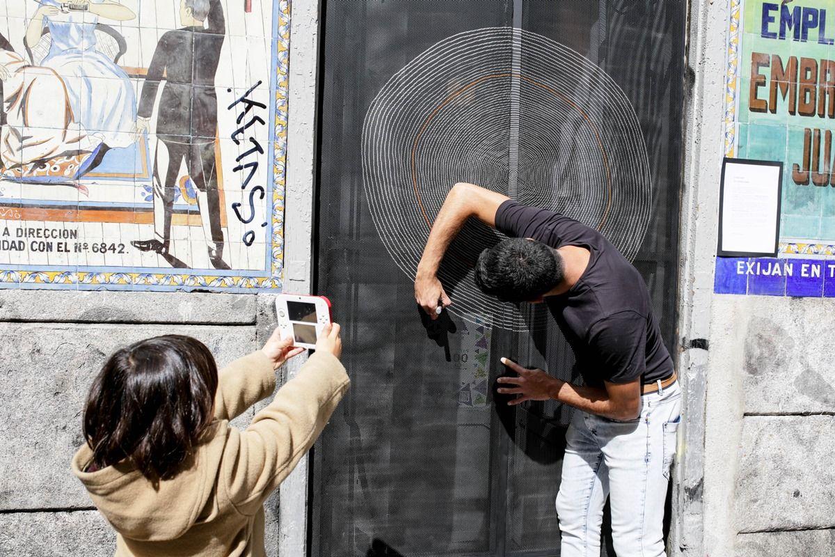 Alejandro Ontiveros, trabajando en su cierre | P. TARO