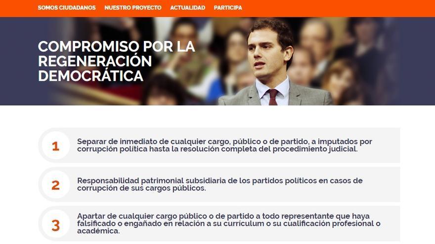 Compromiso de regeneración democrática de Ciudadanos.