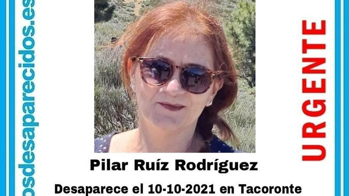 Cartel de la desaparición de Pilar Ruiz Rodríguez
