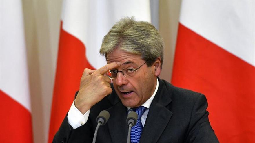 Gentiloni se reunirá mañana en París con el presidente francés