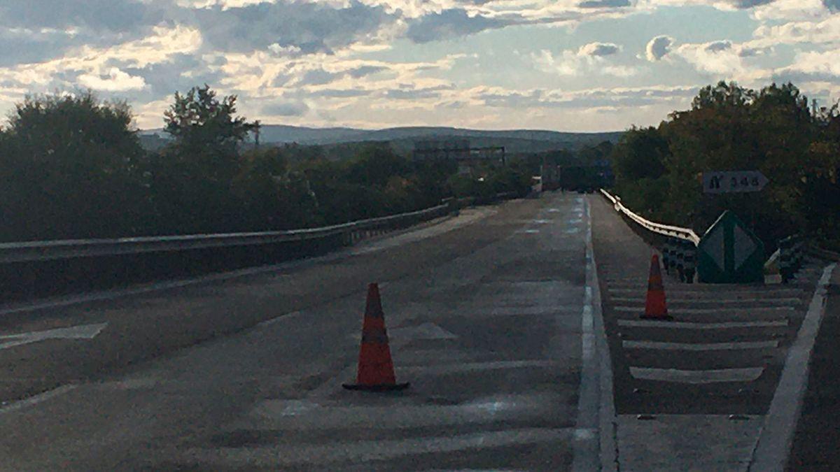 Desvío del tráfico de la A4 a causa del accidente