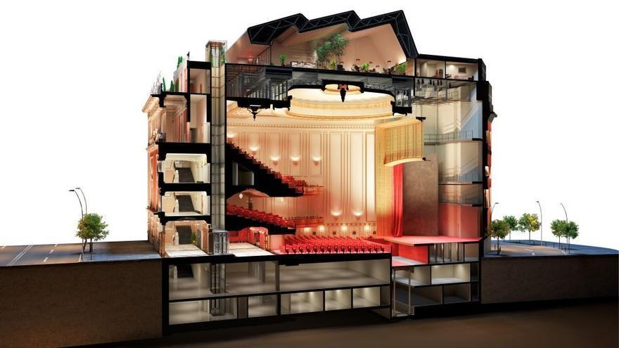 Recreación del futuro Palacio de la Música de Gran Vía   AYUNTAMIENTO DE MADRID