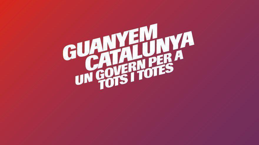 Nuevo cartel de campaña de Catalunya en Comú.