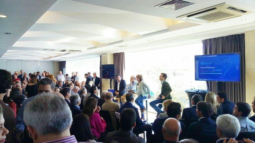 Los dirigentes del PP este sábado en Alicante.