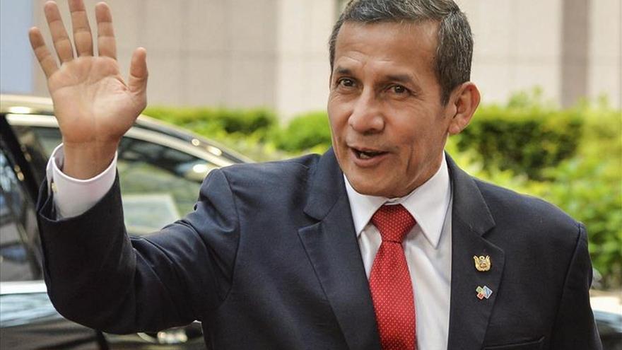 Humala se reunió con José María Aznar en el Palacio de Gobierno