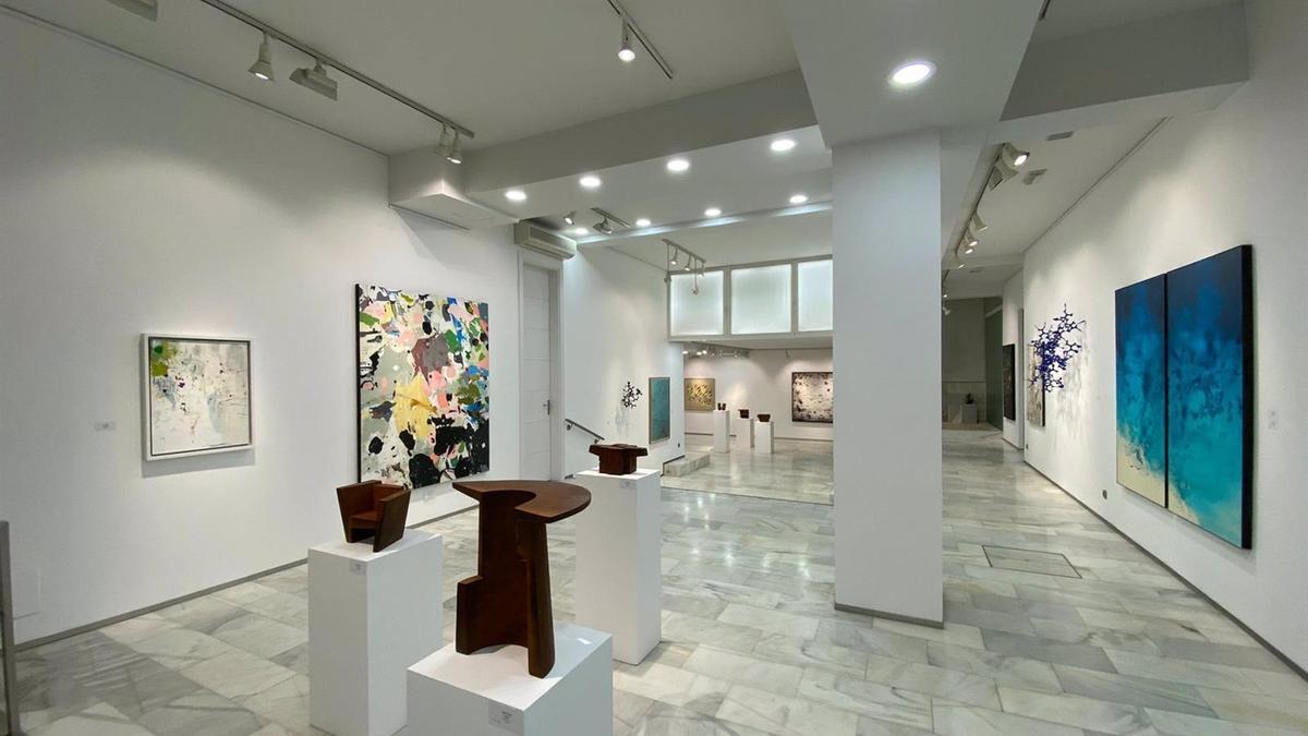 Obras del artista cordobés Pepe Puntas en la galería BAC Alberto Cornejo de Madrid.