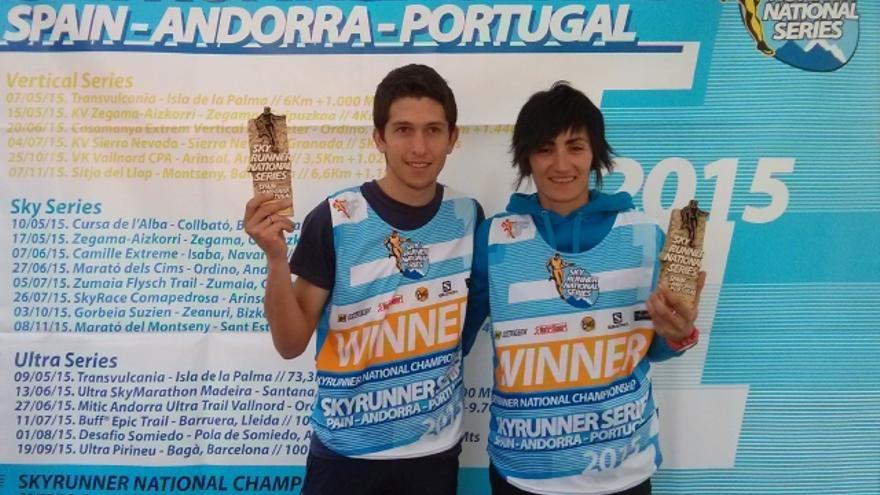 Manuel Merillas y Oihana Kortazar, ganadores de las Sky Series.