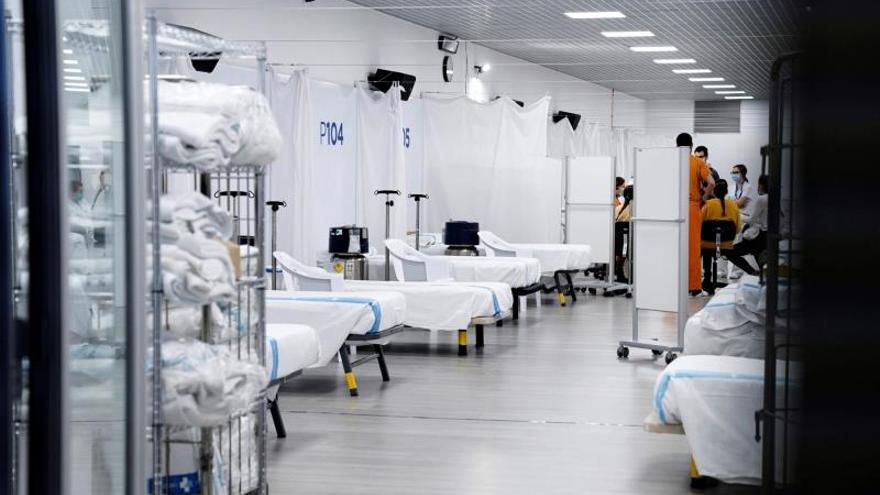 El Pabellón deportivo de Vall d'Hebron de Barcelona acoge a los primeros pacientes
