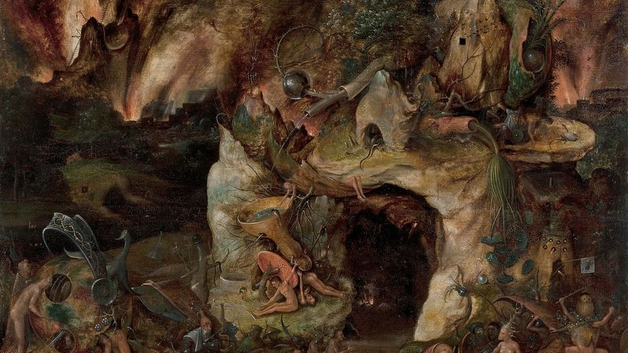 'Paisaje infernal' (1565), un seguidor anónimo de El Bosco