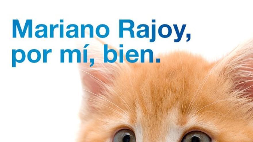 Carteles de 'Rajoy presidente'