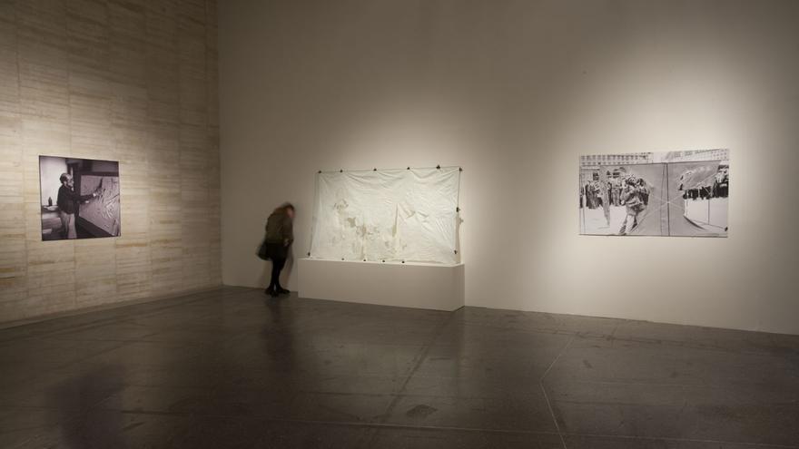 Vista de la exposición de Gustav Metzger