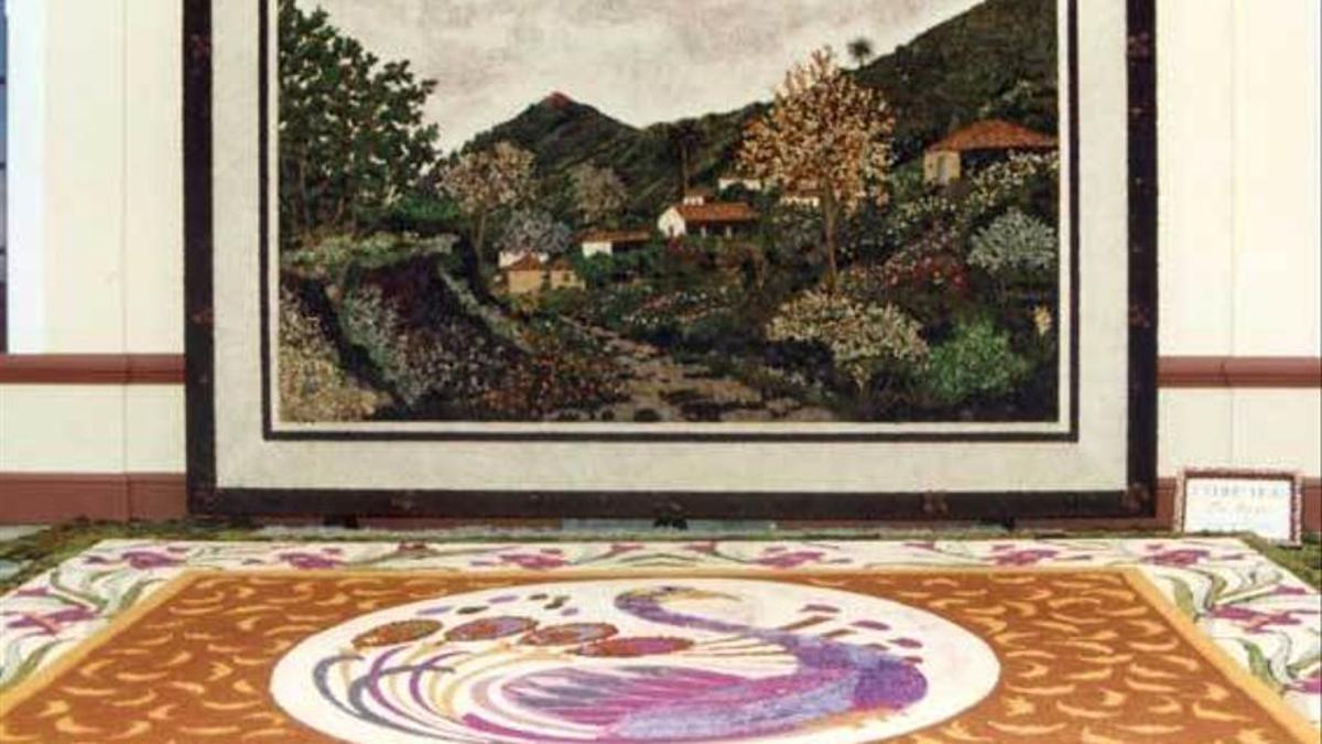 Imagen de archivo del tapiz de Villa de Mazo.