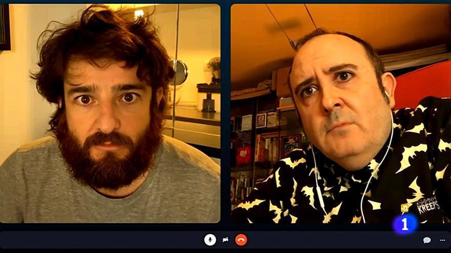 Gorka Otxoa y Carlos Areces, en 'Diarios de la cuarentena'