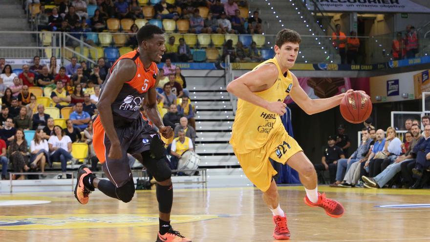 Encuentro disputado en el Gran Canaria Arena entre el Herbalife Gran Canara y el Le Mans Sarthe Basket. Alejandro Ramos.