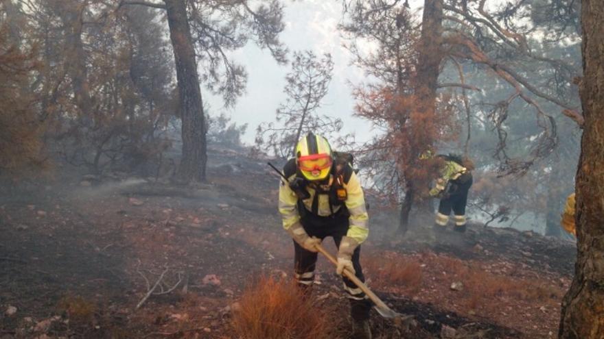 Incendio de Yeste, en Albacete