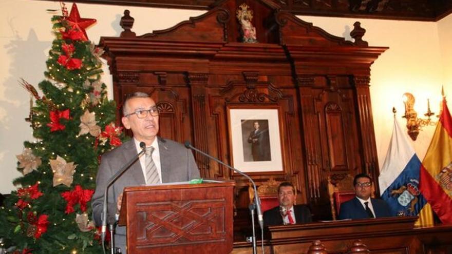 José Rodríguez Escudero durante la lectura del pregón.
