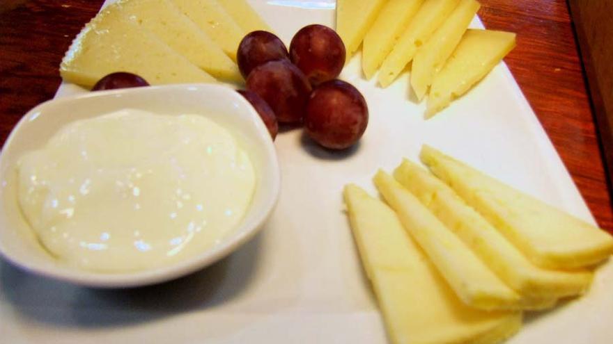 Tabla de queso manchego