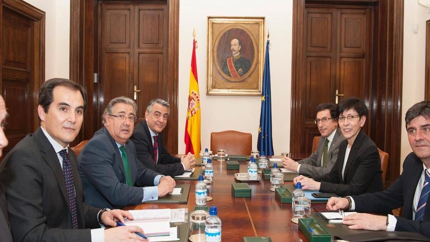 Zoido y Beltrán de Heredia, con sus equipos, en Madrid en marzo