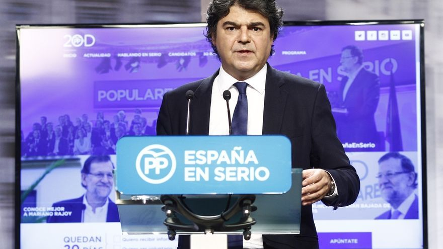 Jorge Moragas, durante la presentación de la anterior campaña del PP.