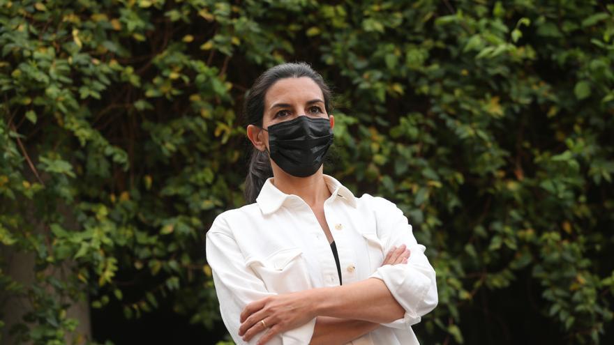 La candidata de Vox a la Presidencia de la Comunidad de Madrid, Rocío Monasterio en un acto público de Vox en Parla.