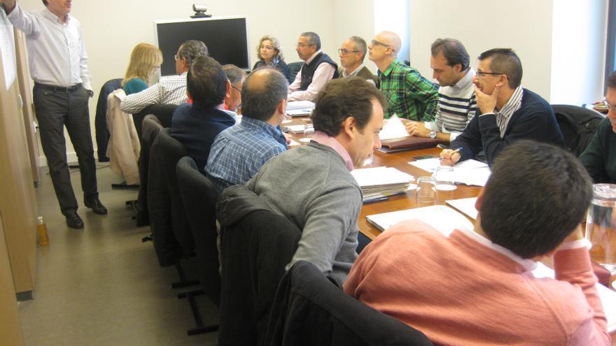 La Comisión de Evaluación Ambiental, este jueves en su primera reunión.