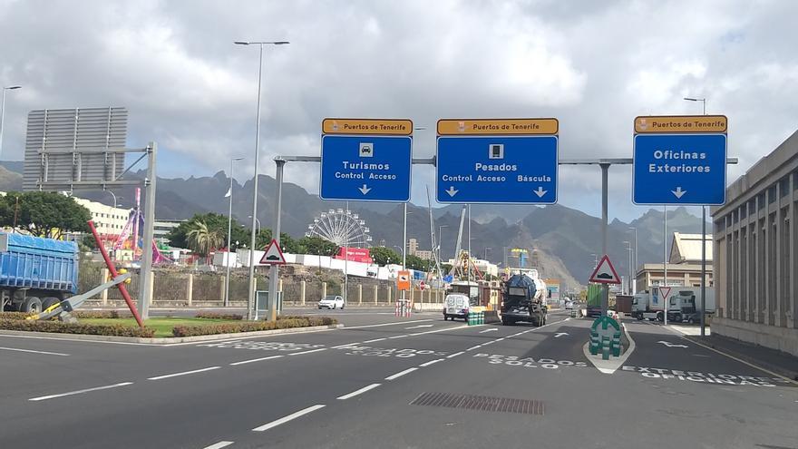 Acceso sur al puerto de Santa Cruz de Tenerife, en una imagen de archivo