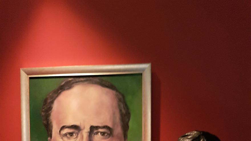 Uno de los cuadros de Blasco Ibáñez que completan la muestra de la Biblioteca Valenciana
